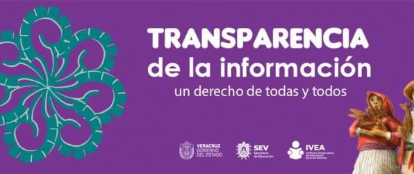 La transparencia de información un derecho de todas y todos.